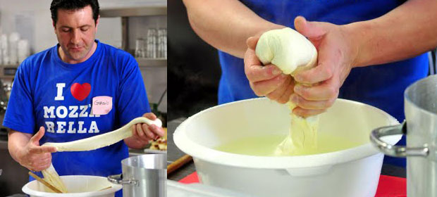 Making cheese by hand