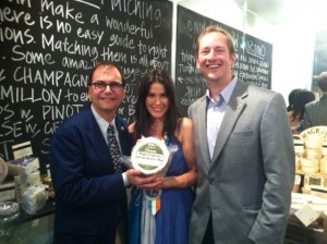 Claudia with Cheese Royalty; David Gremmels & Cary Bryant